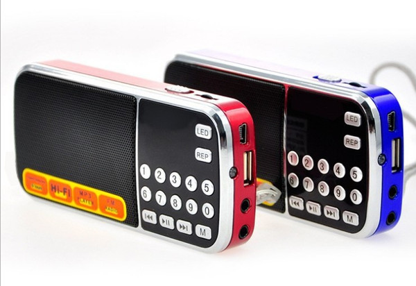 High-quality portable hifi mini FM radio speaker MP3 player amplifier micro SD TF USB flash drive AUX LED flashlight LLFA