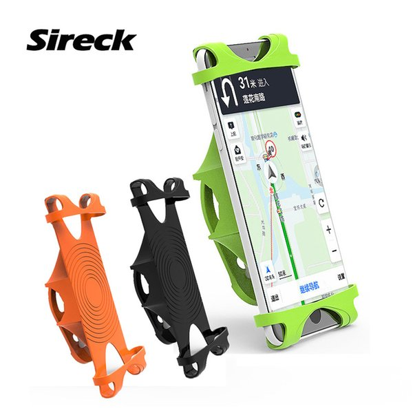 Sireck Universal Bicycle Phone Holder Silicone 4-6.0 Inch GPS Motorcycle Bike Smart Phone Handlebar Holder Mount Support Stand