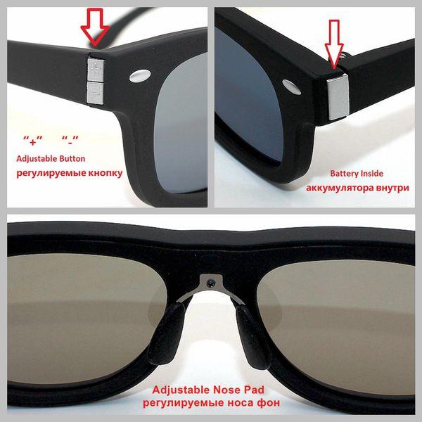 2018 NEW Original Designed Sunglasses LCD Polarized Lenses Electronic Adjustable Darkness Liquid Crystal Tinting Lenses
