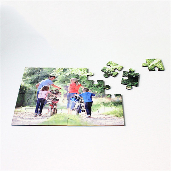 sublimation mdf woodiness puzzles Rectangle shape puzzle hot transfer printing consumables diy toys gifts DP-004 24pieces blocks