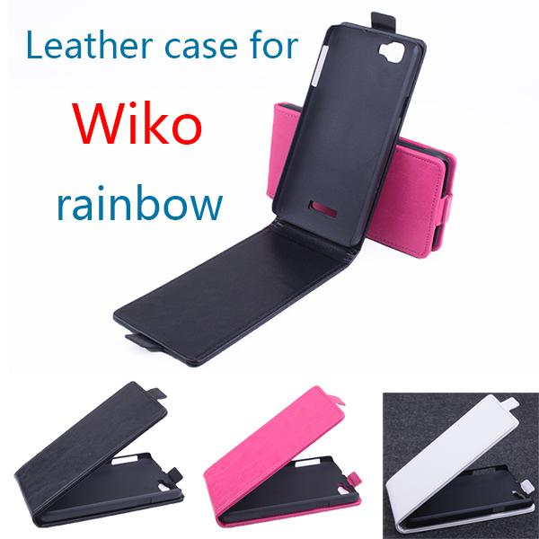 Luxury leather case For wiko rainbow Flip cover housing case For wiko rainbow Mobile Phone cases covers Phone Bags Fundas shell