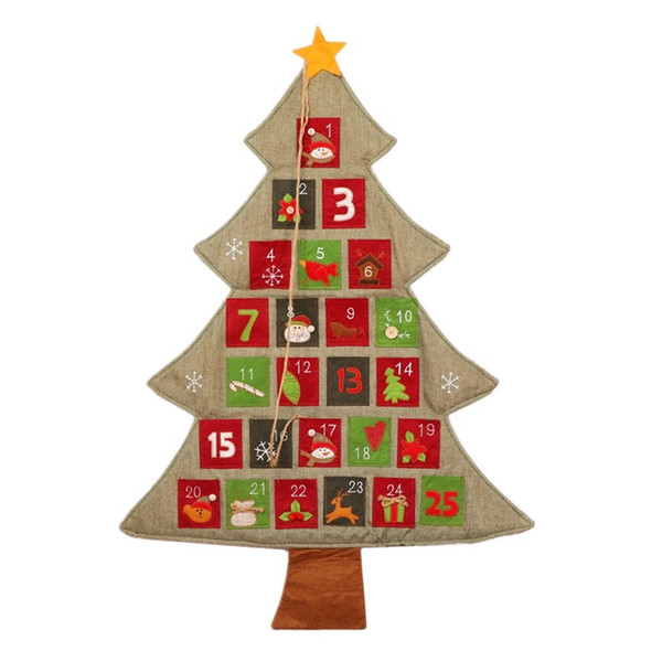 Essential Christmas Decorations.2018 Hot Christmas Calendar High Quality Non Woven Fabric Family Essential Christmas Items New Year Fishional Adventskalender 55 88cm Decorations Of