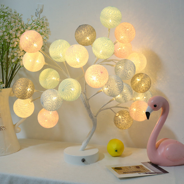 Creative Colored orb Decorative Tree table lamps for living room Led Bed lamp bedside light table light lamps Tafellamp bedroom