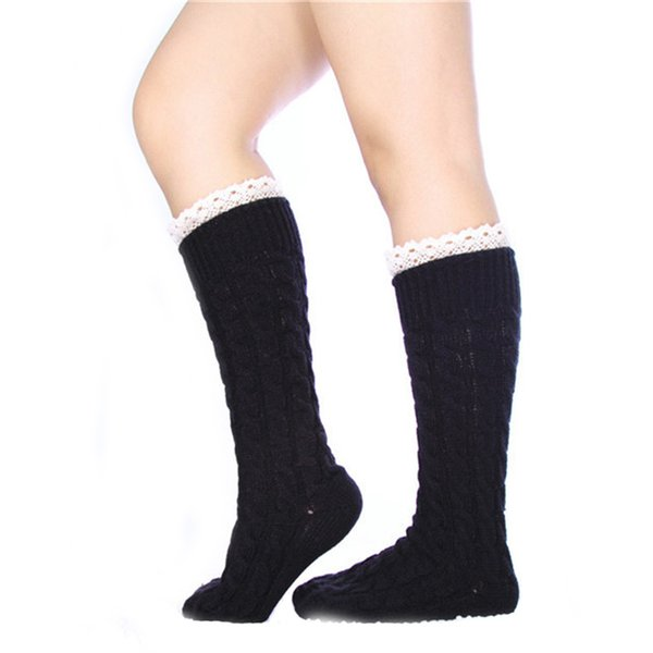 Lange Infinity Knit Lace Socken Boot Socken lose Socken Strümpfe Beinlinge Manschetten Herbst Winter Socke für Frauen Chritsmas Geschenke Drop Shipping