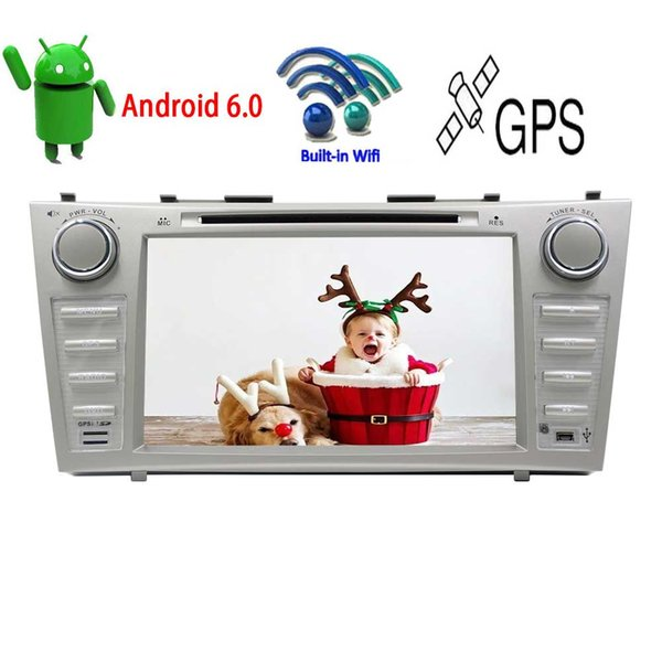 Double Din Android6.0 Car DVD Player for TOYOTA CAMRY 8''Capacitive Touchscreen Car Stereo Quad Core In Dash GPS Navigation System AM FM