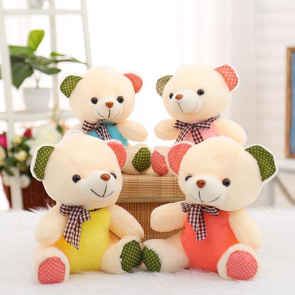 23-28cm 1pcs Mini Bear Doll for Children Teddy Bear Stuffed Plush Toy Baby Toy Gift Kawaii Plush Animals Wholesale Cute