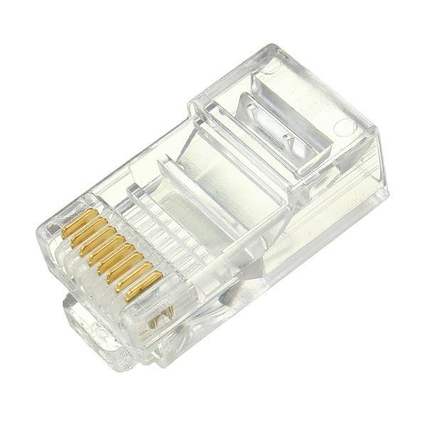 All'ingrosso - Prezzo più basso 50PCS RJ45 RJ-45 CAT6 Cavo modulare Testa Plug Ethernet connettore di rete placcato oro Migliore promozione