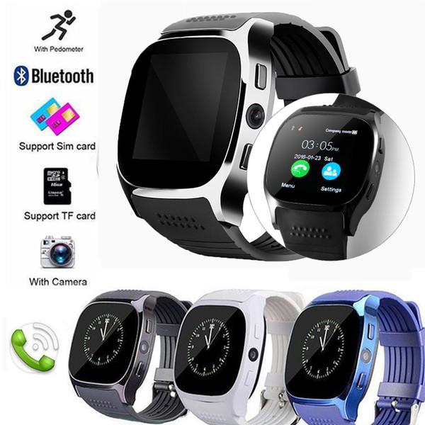 T8 Bluetooth Smartwatches Unterstützung SIM TF-Karte mit Kamera Sync Call Message Männer Frauen Smartwatch Uhren für Android
