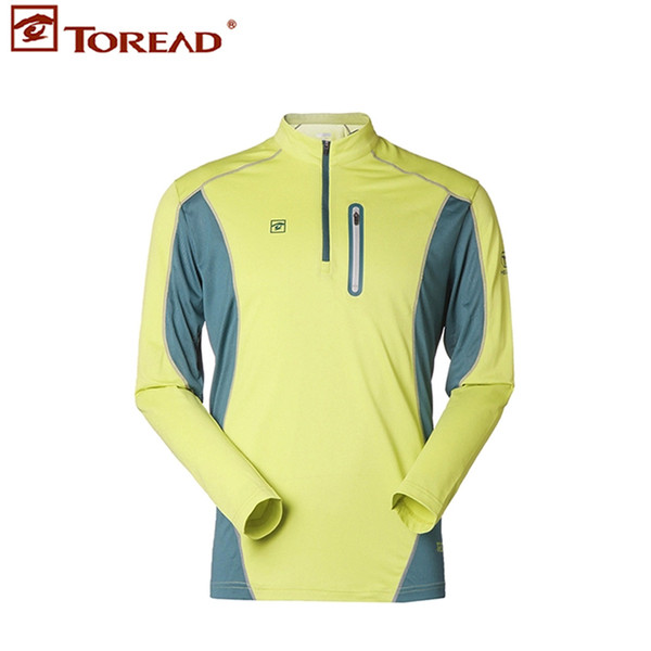 TOREAD Men's Long Sleeved HERO Outdoor Leisure Sports Breathable and Quick Dry T-shirt for Hiking Camping Climbing TAJD81177