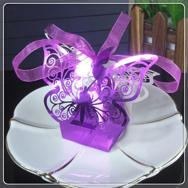 50pcs Wedding Party Candy Box Laser Cut Butterfly Candy Cookies Gift Box Wedding Christmas Halloween Candy Box 5ZT16
