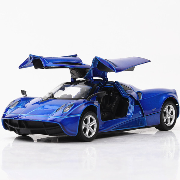 Alloy Car Model Toys, World Famous Classic Sports Car with Flashing, Sound, Pull-back, for Party Kid' Birthday' Gift, Collecting, Decoration