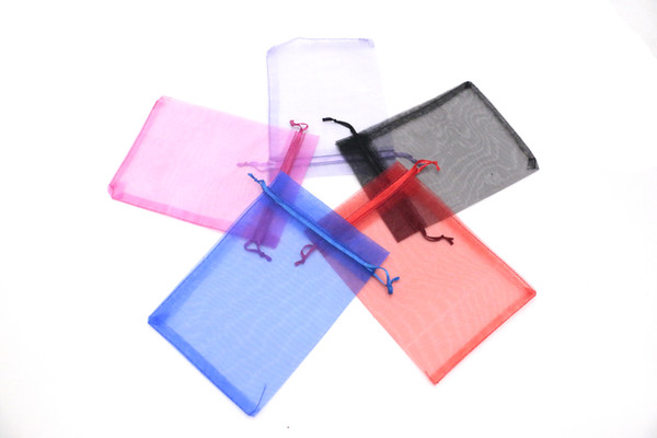13*18 Inches 100pcs/lot Drawable Organza Bags Wedding Easter Gift Bags Jewellry Packaging Organza Bags & Pouches