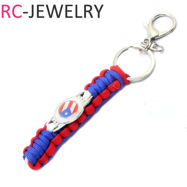 2018 Outdoor Survival Paracord Emergency Survival rope Key Chain Black