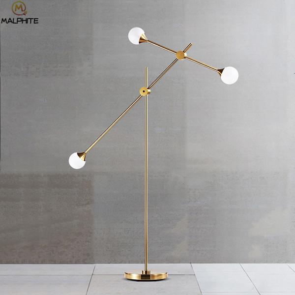 Acquista Lampada Da Terra Moderna Nordica Lampade Da Terra In Oro Lampade  Da Soggiorno Lampada Da Comodino Camera Da Letto Lampada Da Parete Interni  A ...