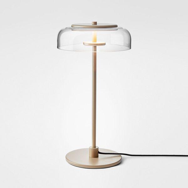 Vidrio moderno Lámpara de mesa LED Lámpara de escritorio de oro Sala de estar junto a la cama Decoración del hogar Hotel G993