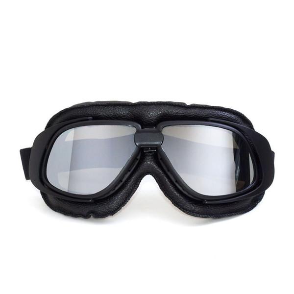 MJmoto universal motorcycle glasses leather unisex pilot motorbike off road motocross goggles outdoor sport skiing ATV motorcycle gafas moto