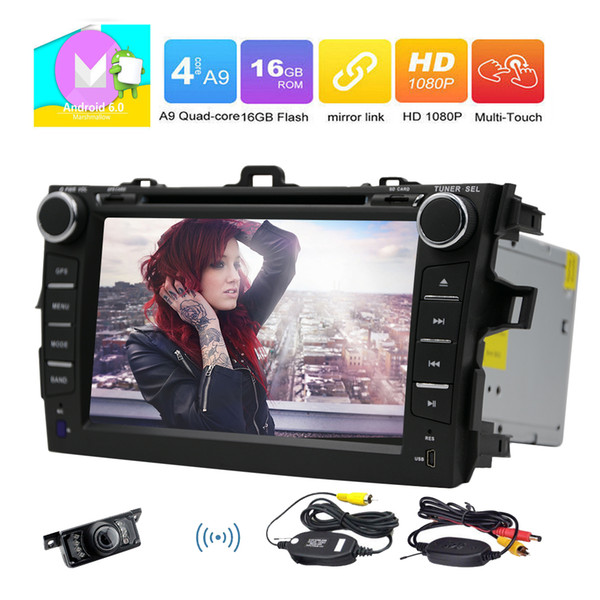 Eincar 7'' Double Din In Dash Car Radio Stereo FOR COROLLA(2007-2013) GPS Navigation Stereo Bluetooth Car Radio car DVD CD Player WIFI