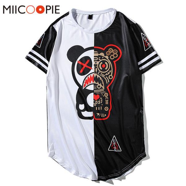 Streetwear Moda Erkekler Kadınlar 3D Hip-hop Dijital Panda Baskılı Komik T Gömlek Homme Tees Beyzbol Jersey Hipster tişörtleri XXL Tops