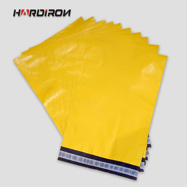 HARDIRON Free Shipping 254x370mm Self Sealing Plastic Poly mailer Shipping Envelope/ Mailing Bags/ Yellow Color Plastic Postal Mailer