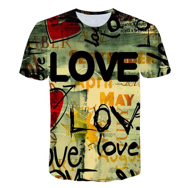 2018 новый 3D футболка мода хип-хоп футболка дым / Алиса / Сумасшедшая любовь топы новинка дизайн Мужчины Женщины тройники Camisetas