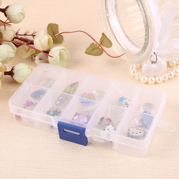 New Durable Elegant Tray 10 Slot Case Jewelry Rings Display Box Jewelry Storage Household Organizer Storage Box