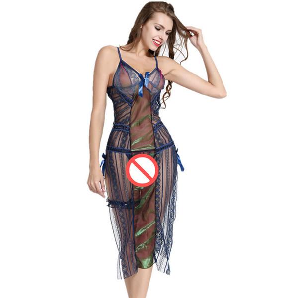 2018 Summer Dress Wrap Midi Dress Boho Vintage Print Flower blue Beach Dress V Neck Sexy Retro Party Dresses split National style camisola