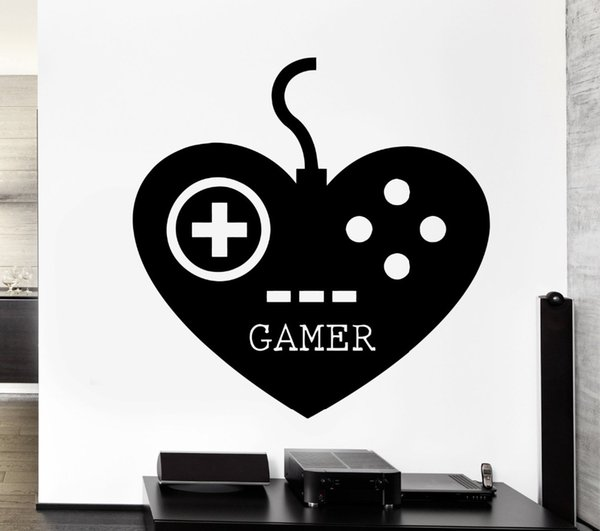 Gamer Gaming Play Room Video Games Kids Room Vinyl Decal Stickers Wallpaper for Boys Bedroom Decoration