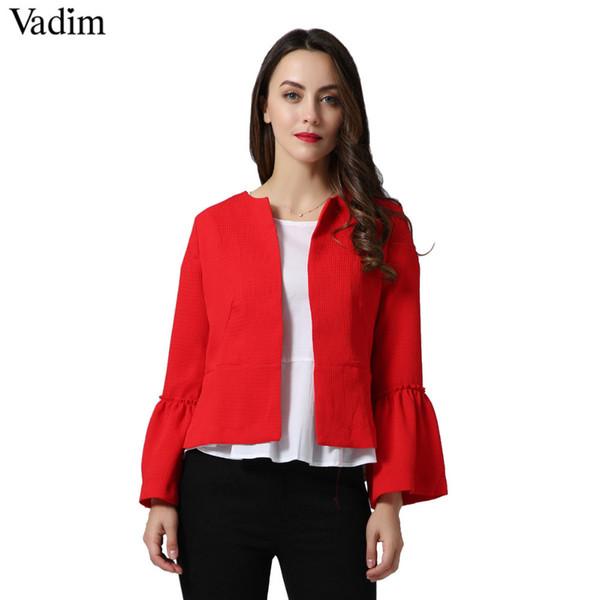 Virtual Store USA women elegant solid jacket s CT1481