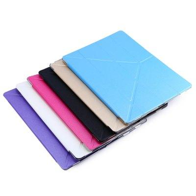 Ultra Slim Transparent Flip Leder Wake Sleep Multi-Falten-Smart Cover Hart zurück Fall für iPad Pro