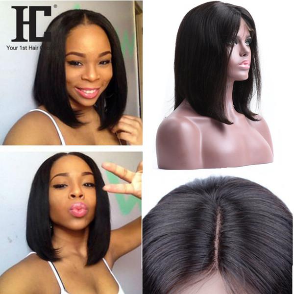 Parrucche Bob capelli umani 150% Brasiliano Capelli di Remy Anteriore parrucche di capelli umani Parrucche afro-americane per le donne nere