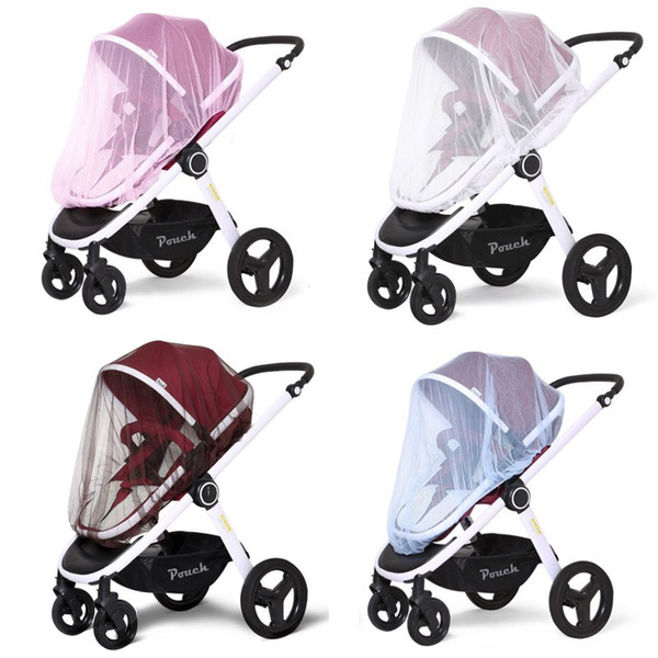 4 colors Mosquito Insect Shield Net Infant Protection Mesh Buggy Cover Children Baby Stroller Pushchair Mosquito Net Netting Accessories