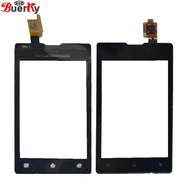 Para sony xpeira e c1505 c1504 touch screen painel de toque digitador sensor de vidro frete grátis