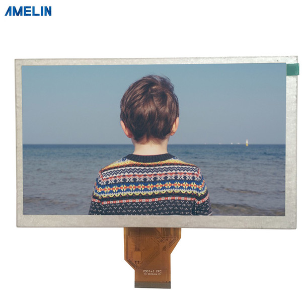 8 inch 800*480 TFT LCD Module display with resistive touch screen from shenzhen amelin panel manufacture