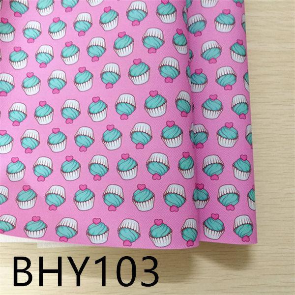 7 * 12 pulgadas 10 unids / set de impresión de vinilo de tela de cuero sintético de dibujos animados BHY103