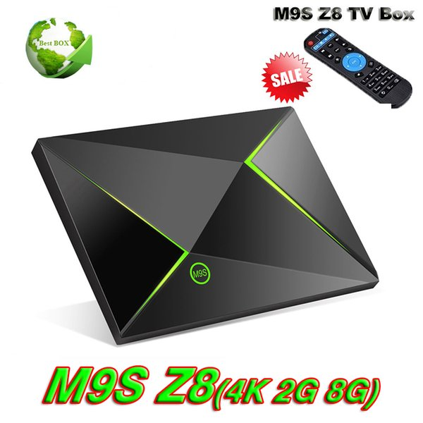 M9S Z8 Android TV Box S905X 4K OTT Box Free HD Sports Streaming Player Bluetooth Enabled 2GB 8GB Better T95Z PLUS