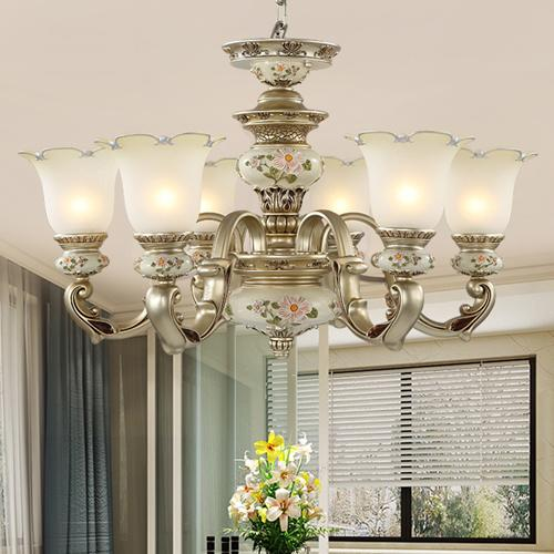 Pendant lamps North European pendant chandelier light elegant luxury classic American royal fancy led pendant lighting for living room