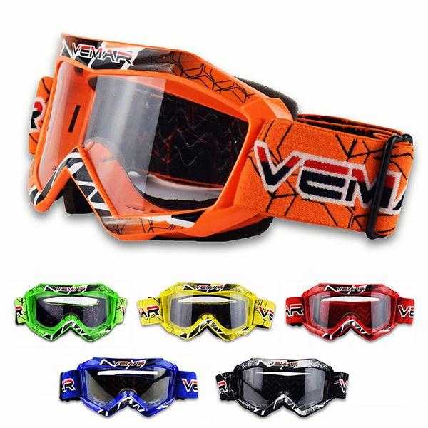 2017 Childen gafas de moto claro Niños Off-Road Dirt kid Gafas de bicicleta Para motocross Casco gafas gafas de carreras de niño