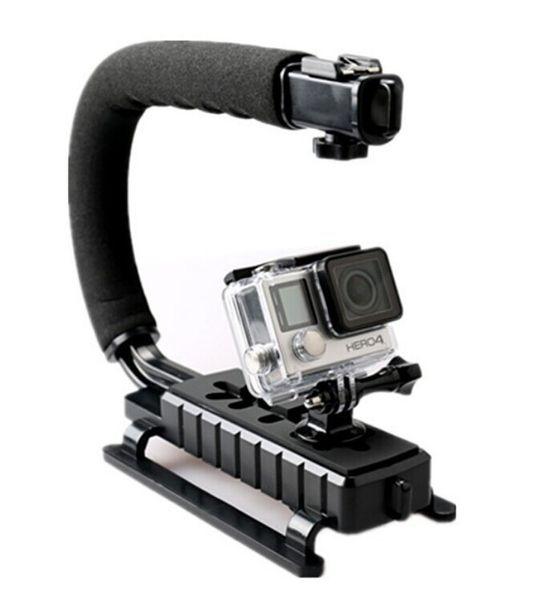 C Shape Flash Bracket holder Video Handheld Stabilizer for DSLR Camera Phone Sports action camera Mini DV Camcorder GoPro Hero 3 3+ 4