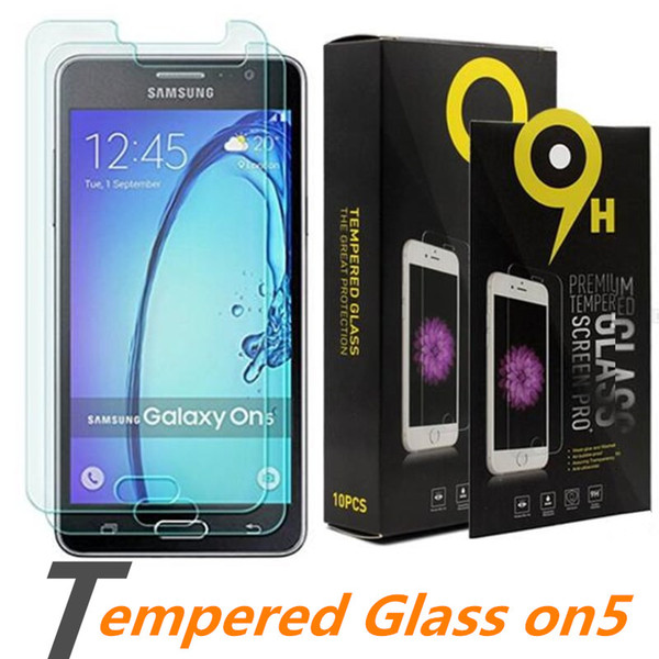For Samsung Note 8 Tempered Glass Screen Protector For On5 S7 edge S6 Note 5 S5 on6 on7 J3 prime 0.33mm 2.5D 9H Anti-shatter Paper Package