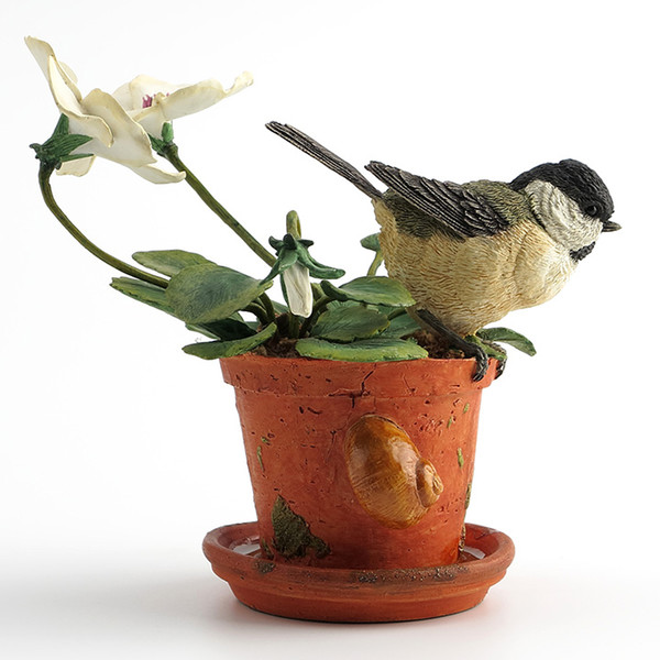 British designer tits and violets realistic animal decorations Resin ornaments sculpture soft home furnishings
