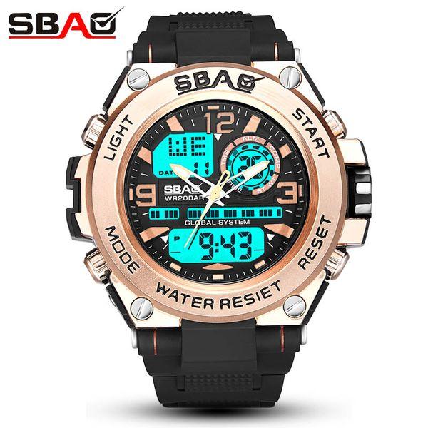 Reloj deportivo SBAO New Style Men para hombre Reloj electrónico masculino Reloj impermeable para hombres multiusos