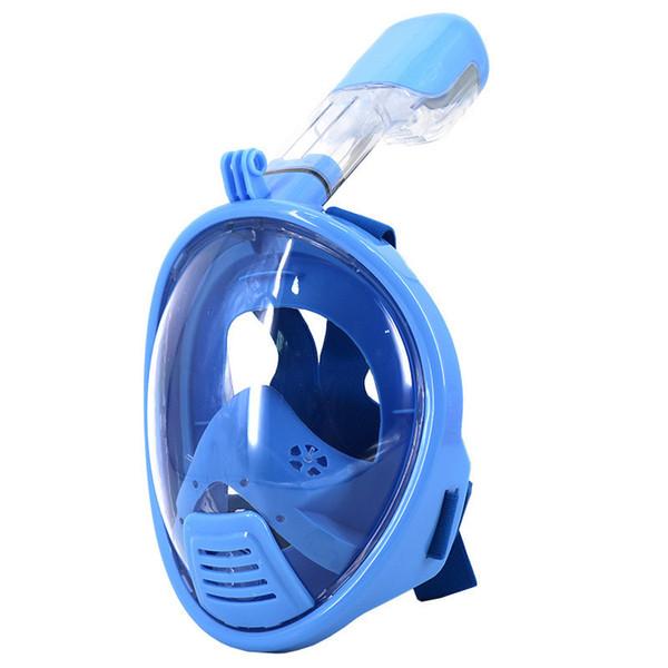 Anti Fog 180 Degree Children Mask Snorkel Swimming Training Scubafull Face Snorkeling Mask Gopro Camera Sport Equipment
