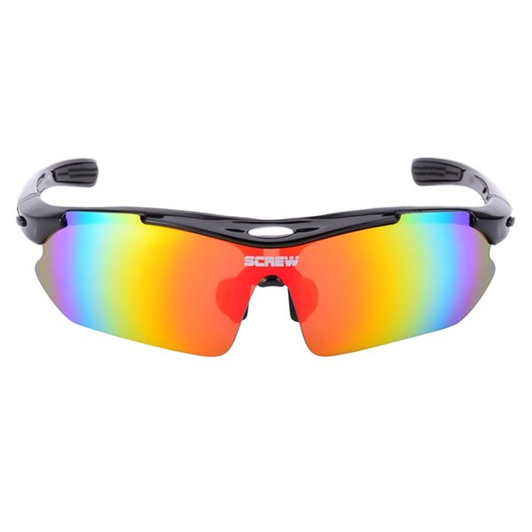 UV400 Sports Bike Polarized Sunglass with 4 Pairs Interchangeable Lenses Cycling Eyewear Glasses Goggles Radar Sunglasses