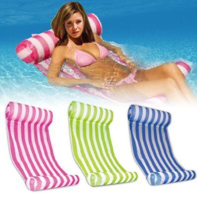 3 Farben Sommer Schwimmbad Aufblasbare Schwimmende Wasser Hängematte Lounge Bett Stuhl Sommer Aufblasbare Pool Float Schwimmende Bett CCA9568 10 stücke