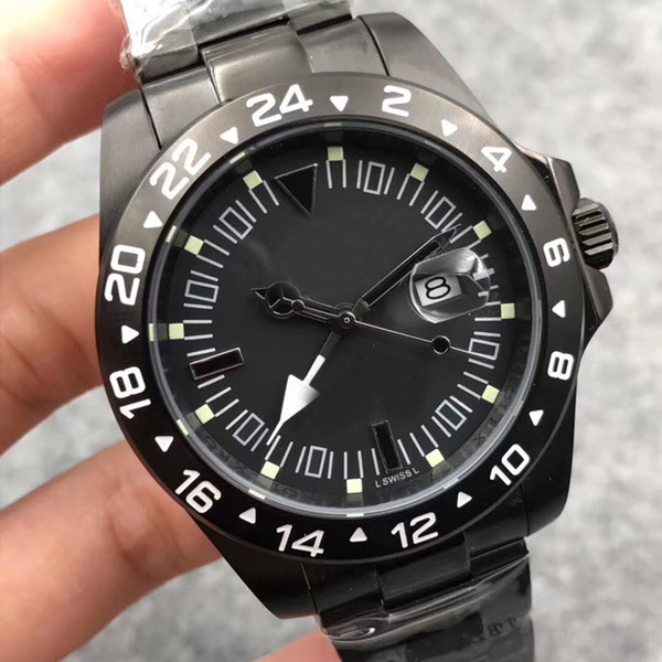 2018 NEW STYLE Rol Expplorer II Automatic 2813 Movement Bamford Men Watch Black Dial 316 Stainless Band Mechanical Watch