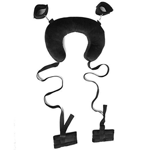 Спальня Пары Игра-Шея Подушка Управления Положением Легкий Доступ Портативный Открытый Бедро Сдержанность Слинг Черный