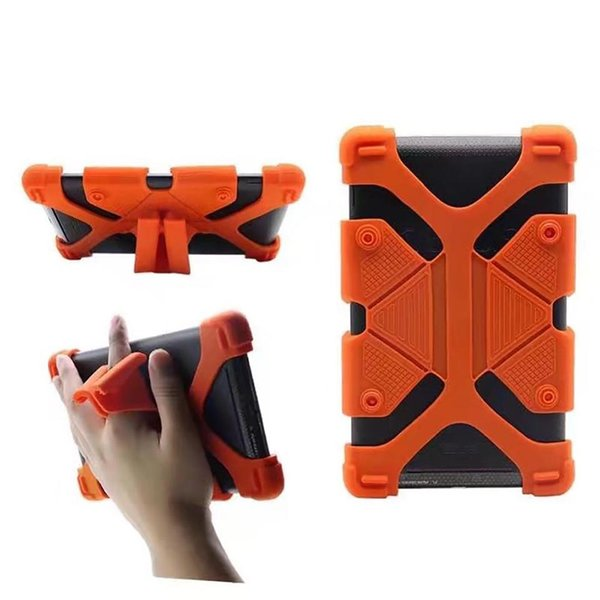 Universal Silicone Tablet Case Protective Stand Cover Bumper Frame For iPad mini pro Samsung galaxy tab LG Tablet Asus 60pcs DHL