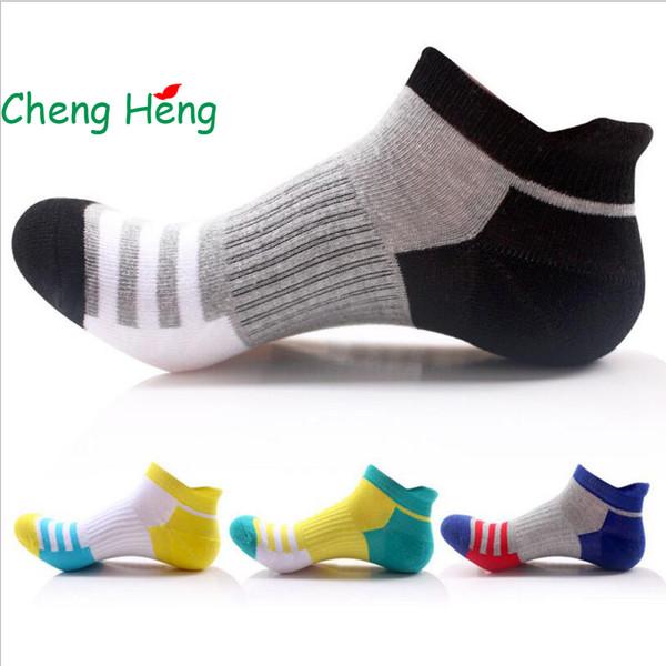 CHENG HENG 1 Pair /Bag Summer New Men's Socks Cotton Striped Boat Socks Tide Men Casual 4 Color