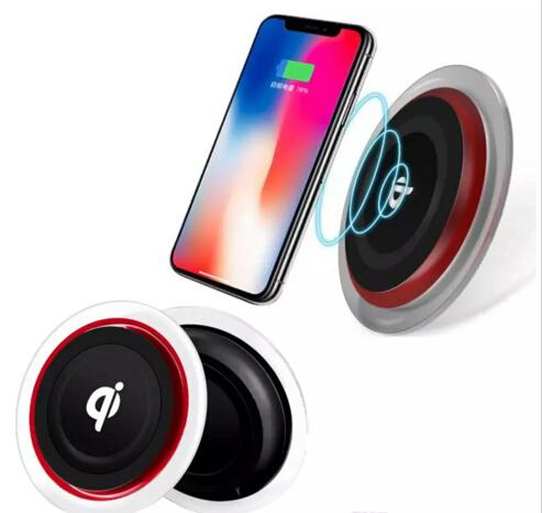 2018 Q6 Wireless Charger Charging Pad Crystal Led light For Iphone X 8 Plus Samsung Galaxy S8 plus LG Nokia Google Smartphone With Package