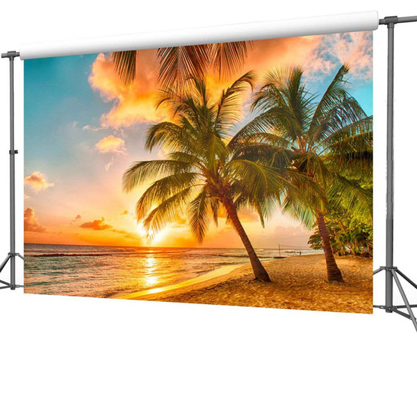 Summer Seascape Beach Dreamlike Haloes 59x83 inch 3D Photography Background Screen Photo Video Photography Studio Fabric Props Backdrop
